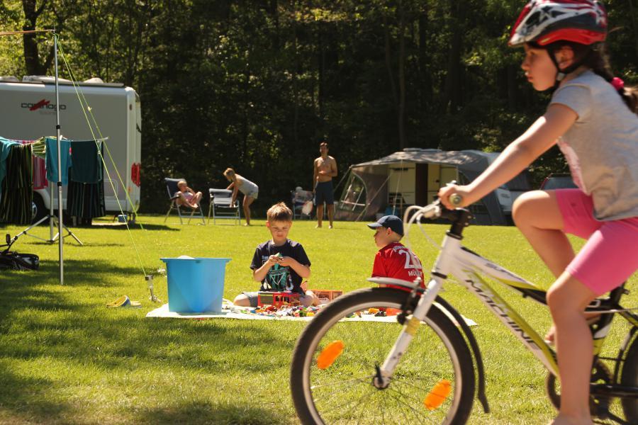 Camping mit dem Fahrrad